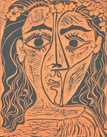 Ceramic Picasso - Tête de femme à la couronne de fleurs (Woman's Head with Crown of Flowers), 1964