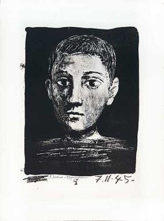 Lithograph Picasso - Tête de jeune garçon
