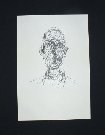 Lithograph Giacometti - Tête d'homme