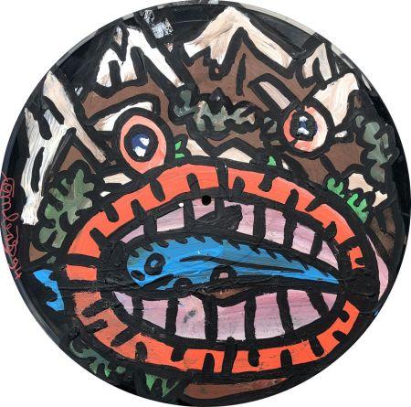 No Technical Combas - Tête en forme de montagne qui mange un poisson