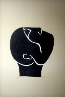 Lithograph Ubac - Tête levée