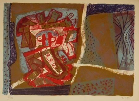 Lithograph Nieto - Tête rouge