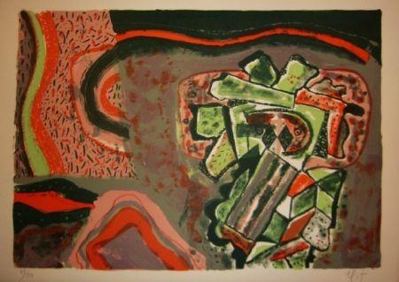 Lithograph Nieto - Tête verte