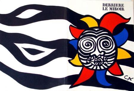 Lithograph Calder - Têtes vagues Noires