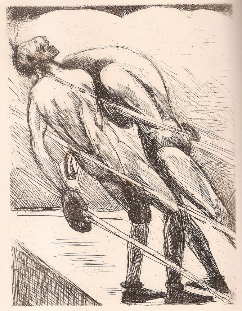 Illustrated Book De Segonzac - Tableau de la boxe