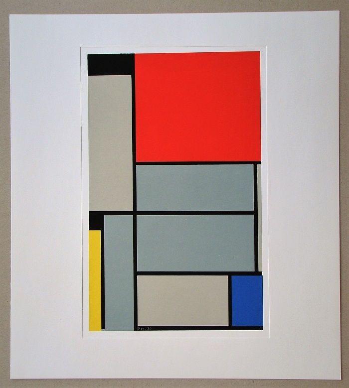 Screenprint Mondrian - Tableau I. - 1921