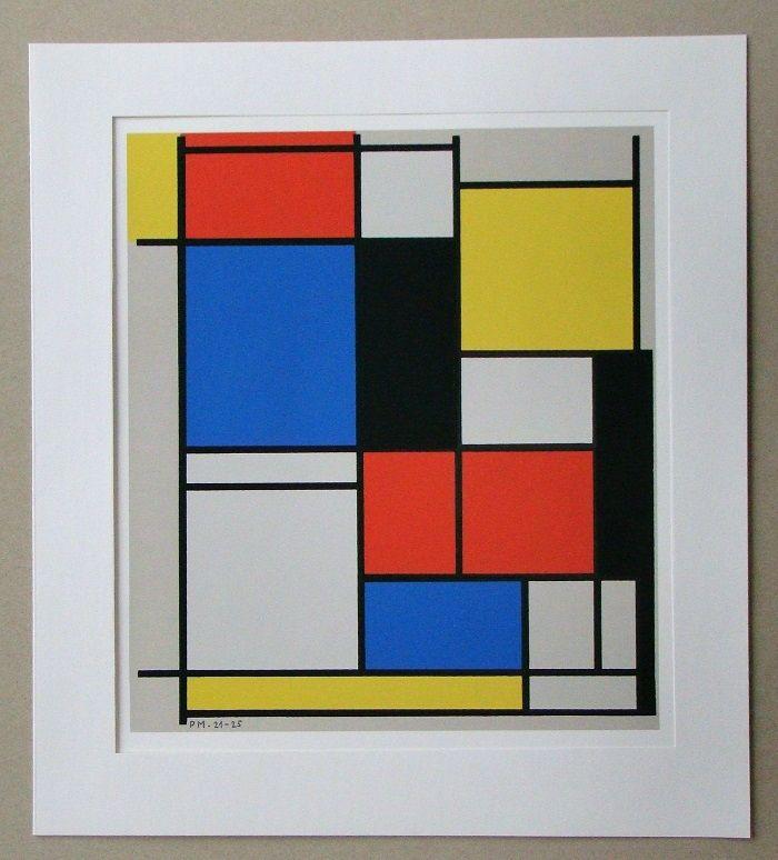 Screenprint Mondrian - Tableau II. - 1921/25