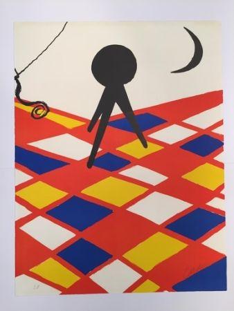 Lithograph Calder - Tabouret à trois pieds