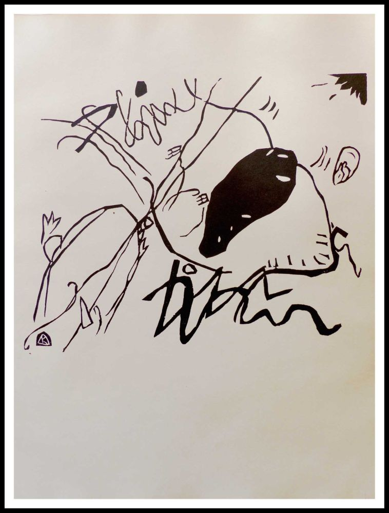 Woodcut Kandinsky - TACHE NOIRE