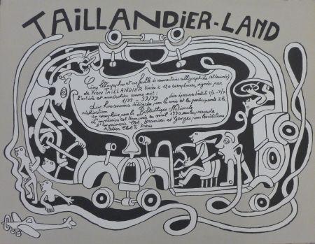 Lithograph Taillandier - Taillendier Land