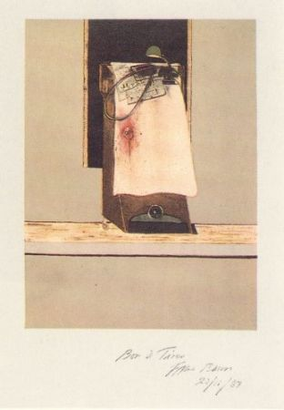 Etching Bacon - Taken from a photograph of Trotsky's study in Mexico, 1940