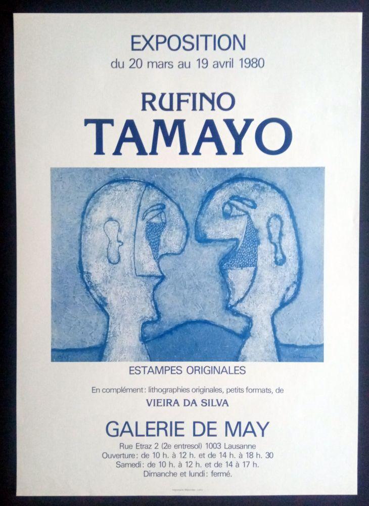 Poster Tamayo - Tamayo - Estampes Originales - Galerie de May 1980