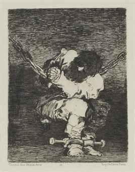 Etching Goya - Tan bárbara la seguridad como el delito (Little Prisoner)