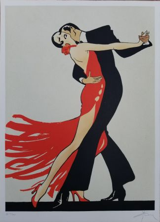Lithograph Gruau - Tango