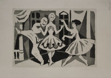 Aquatint Hartmann - Tanz / Dance