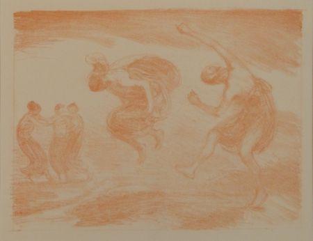 Lithograph Hofmann - Tanzende Mädchen (Springende Mädchen)