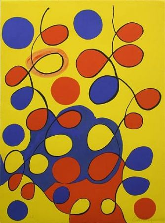 Lithograph Calder - Tapestry