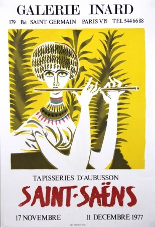 Lithograph Saint Saens - Tapisseries D'Aubusson Galerie Inard