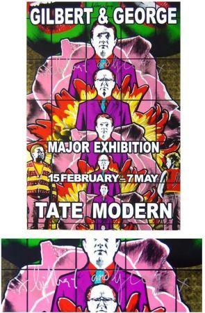 Poster Gilbert & George - Tate modern gallery violet