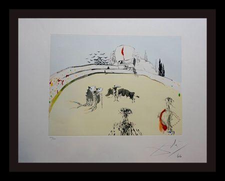 Etching Dali - Tauramachi Surrealiste Bullfight with Drawer