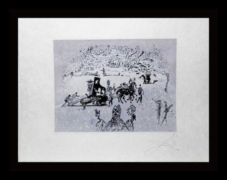Etching Dali -  Tauramachie Surrealiste The Piano In The Snow