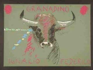 Screenprint Mondino - Taureau