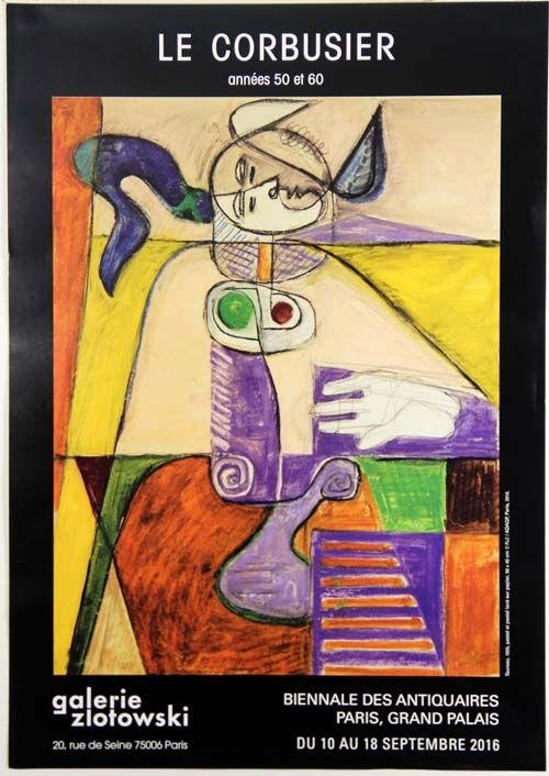 Offset Le Corbusier - Taureau  Galerie Zlotowski