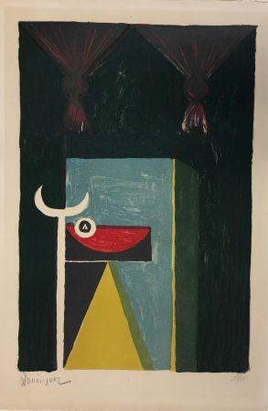 Lithograph Dominguez - Tauromachie