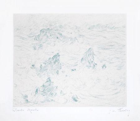 Lithograph Monet - Tempête à Belle-île