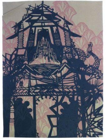 Screenprint Swoon - Temple