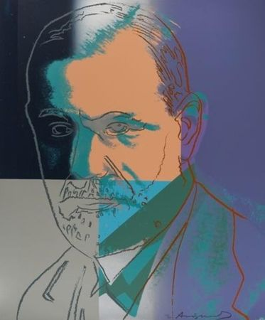 Screenprint Warhol - Ten Portraits of Jews of the Twentieth Century: Sigmund Freud
