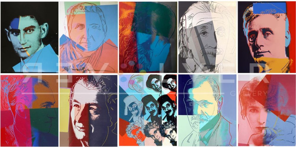 Screenprint Warhol - Ten Portraits of Jews of the Twentieth Century (Trial Proof) (Full Suite)