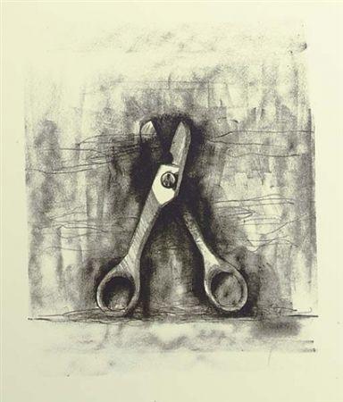 Lithograph Dine - Ten winter tools (Scissor)