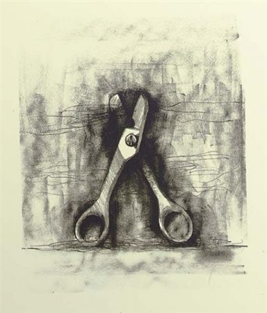 Lithograph Dine - Ten winter tools (Scissor)