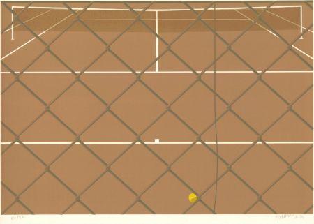 Lithograph Babou - Tennis