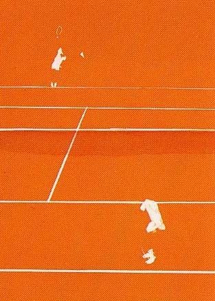 Lithograph Aillaud - Tennis