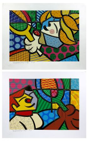 Screenprint Britto - TENNIS SUITE (EMBELLISHED)