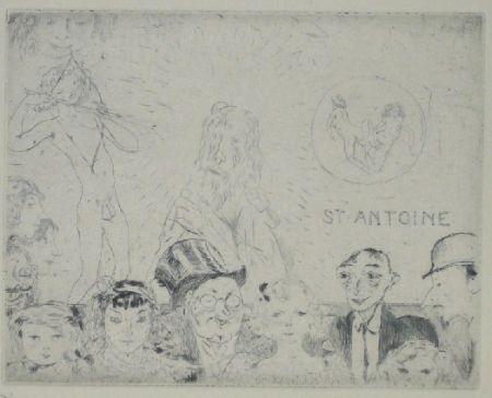 Drypoint Pascin - Tentations de Saint Antoine