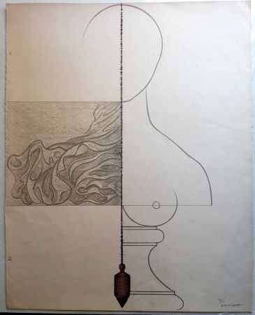 Lithograph Subirachs - Teresa Bonjour