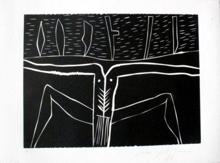 Linocut Paladino - Terra tonda africana 4