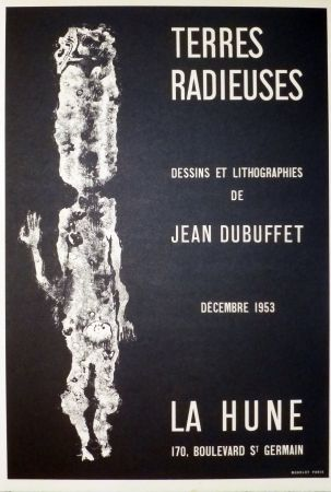 Lithograph Dubuffet - Terre radieuse, la hune