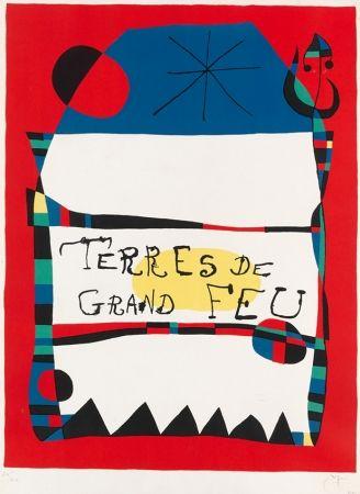 Lithograph Miró - Terres de grand feu, 1956