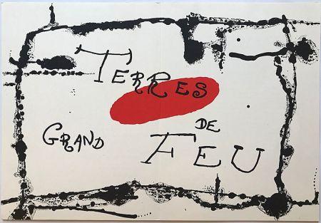 Lithograph Miró - Terres de Grand Feu I (1956)
