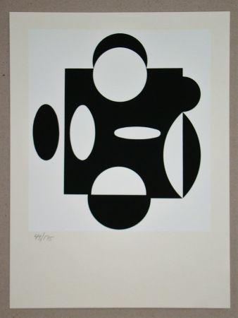 Screenprint Vasarely - Terreur