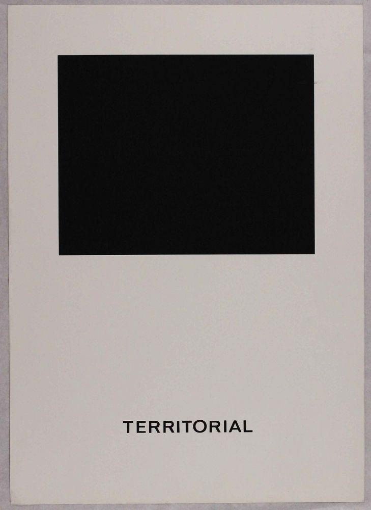 Screenprint Agnetti - Territorial from 'Spazio perduto e spazio costruito' portfolio, Plate B