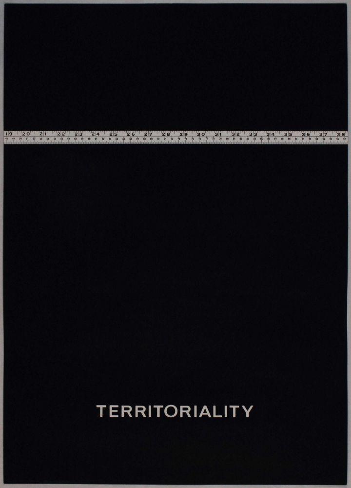 Lithograph Agnetti - Territoriality from 'Spazio perduto e spazio costruito' portfolio, Plate H