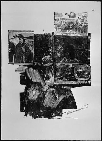 Lithograph Rauschenberg - Test Stone #2, from Booster and 7 Studies