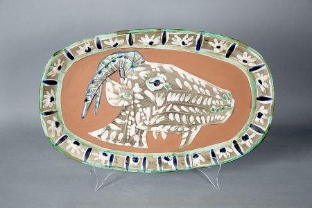 Ceramic Picasso -  Tete de chevre de profil (Goat's Head in Profile), 1952