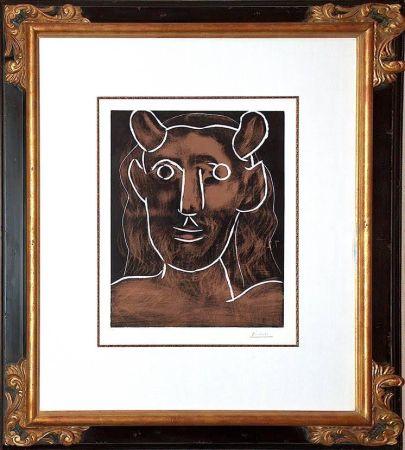 Linocut Picasso - Tete De Faune (B. 1094)