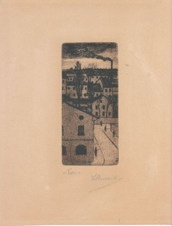 Etching Russolo - TETTI (Roofs)